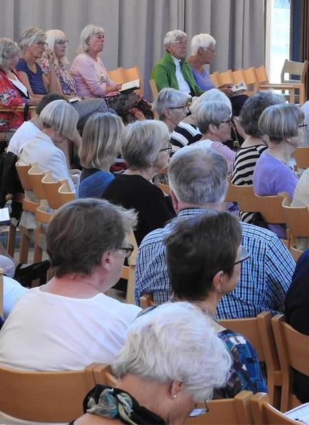 Billede af mennesker til foredrag